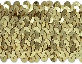 Expo International 10-Yard 5-Row Metallic Stretch Sequin Trim, 1 3/4-Inch, Gold