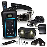 Remote Dog Training Collar,Night Light,Removable Shock,Vibrate,Anti Bark,Beep Mode - Hunting Standard ¾ Mile Long Range Waterproof E Collar,Train 3 Dogs if Extra Collars Bought,Big,Large,Medium 15lbs+