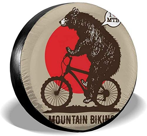 YANMEI Spare Tire Wheel Covers Bike Mountain Biking Wheel Waterproof Tire Covers SUV Campers Travel Rv Trailers Accessories 14-17 Inch