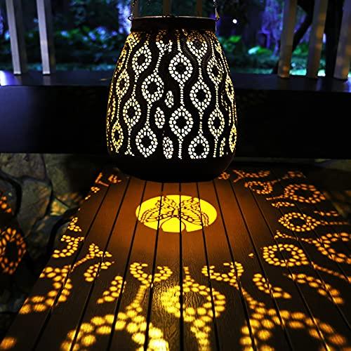 YJFWAL Lámparas solares para exteriores colgantes con forma de mariposa, para camping, jardín, resistente al agua