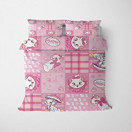 Rhmvvseso 3D Bedding Set Printed Duvet Cover Set 220 x 230 cm + 2 Pillowcase 50 X 75 cm Soft Hypoallergenic Brushed Microfibre Bedding Cartoon animal cat Single duvet cover
