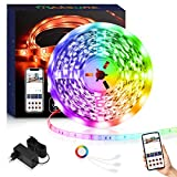 Maxsure Alexa Striscia LED 5M, Nastri LED, WiFi, Striscia LED Esterno IP65 Impermeabile, L...