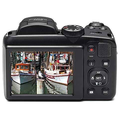 Kodak PIXPRO AZ252 Astro Zoom 16MP Digital Camera (Black) with 16GB SD Card and Case Bundle (3 Items)