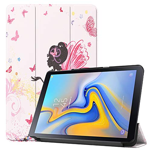 Fine Finet Case for Samsung Galaxy Tab Advanced2 T583 (10.1 Inch), Trifold Stand Ultra Slim Lightweight PU Leather Magnetic Flip Shockproof Rugged Protective Cover Shell, Elf girl