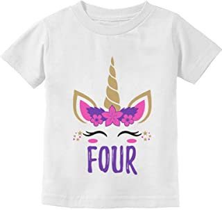 Gift for 4 Year Old Girl Unicorn 4th Birthday Toddler Kids T-Shirt
