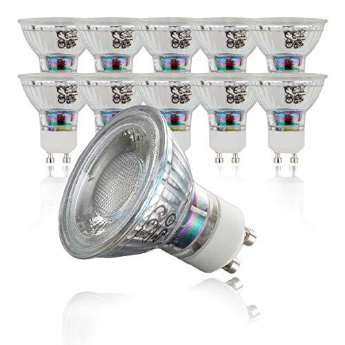 B.K.Licht 10er Set 5W LED Lampen – Ersetzt 50W Halogenlampe – Leuchtmittel mit GU10 Fassung für innen – Energiesparende Birne in Reflektor-Form – 400 Lumen – 3000K warmweiss
