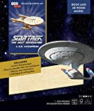 Star Trek The Next Generation U.S.S. Enterprise 3D Wood Puzzle &Model Figure Kit (50 Pcs) - Build & Paint Your Own 3D Space Ship Toy - Educational Gift for Kids & Adults, No Glue Required, 10+