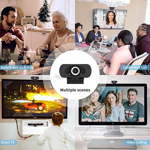 Guo duo Webcam Full HD 1080P Computer Kamera Breitbild Videotelefonie und Aufzeichnung, Fester Fokusdesign Webcam mit Mikrofon, Streaming Kamera