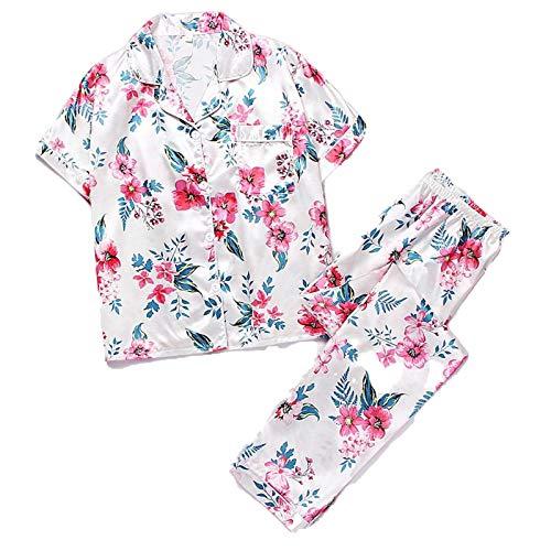Albornoces de las Mujeres de Manga Corta Pijama Primavera...