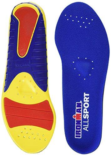 Spenco Herren Ironman All Sport Einlegesohlen , Mehrfarbig (Mehrfarbig - Gelb/Blau/Rot), 36-38