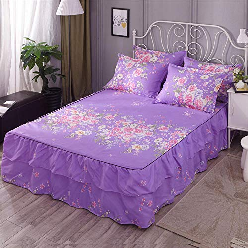 GTWOZNB Non Iron Soft Poly-Cotton Plain Dyed Flat Bed Sheet Single, King Available All-inclusive bed sheet bed skirt-7_2*2.2m