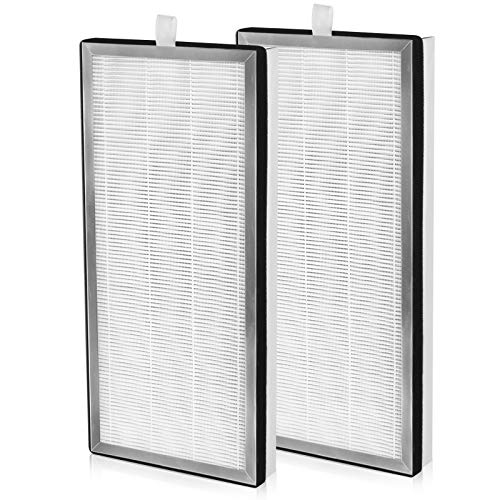 Cabiclean 2 Pack MA-40 H13 True HEPA Replacement Filter for Medify Air MA-40 Air Purifier (ME-40), 3-in-1 Filtration Includes True HEPA Activated Carbon and Pre-Filter.