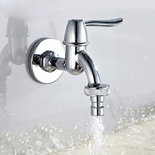 Moderne eenvoudige messing geconstrueerd warm en koud wastafel kraan badkamer wastafel kraan zuiver koper wasmachine snelle opening kraan spiegel chroom geborsteld kraan huishoudelijke dweil zwembad kraan