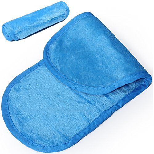 Asciugamani da viso struccanti riutilizzabili, privi di sostanze chimiche, per rimuovere istantaneamente il trucco usando solo acqua, 3 pezzi