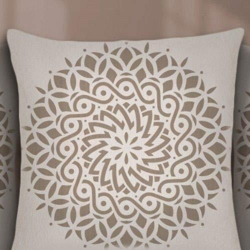 TODO-STENCIL Stencil Home Decor Rosetón 019 Mandala Medidas exteriores: 30x30 Medidas internas diseño 28 x 28cm