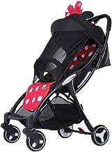 Yxyxml El Carro de bebé, Cochecito de bebé Plegable de Peso Ligero de Cuatro Ruedas del Cochecito de bebé Gemelo (Color : Minnie)