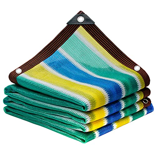 HWLL Schattennetz Sonnensegel/Sonnenschutzmarkise/Fensterabdeckung, 90% UV-Schutz Gittergewebe Segel mit Ösen, Reißfestigkeit & Verschleißfestigkeit (Size :...