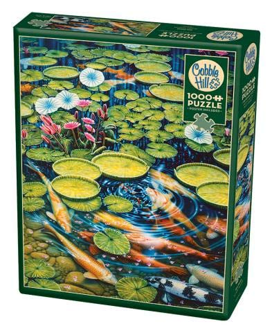 Cobble Hill 1000 Piece Puzzle - Koi Pond - Sample Poster Included