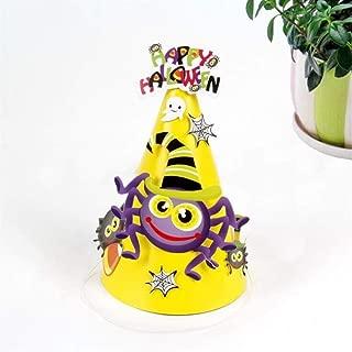 Perfect Party Decoration Holiday Accessories Halloween Cartoon Paper Hat Halloween Decoration Halloween Supplies(Spider)