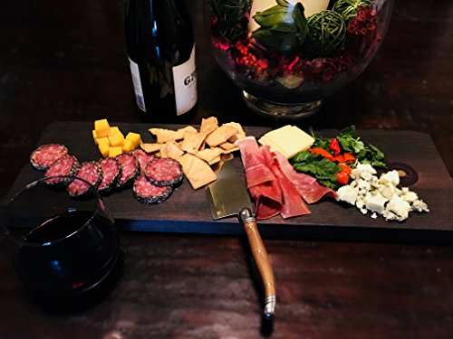 Walnut Charcuterie and Cheese Board for Serving Wine, Cheeses, Meats, Bread and Fruit