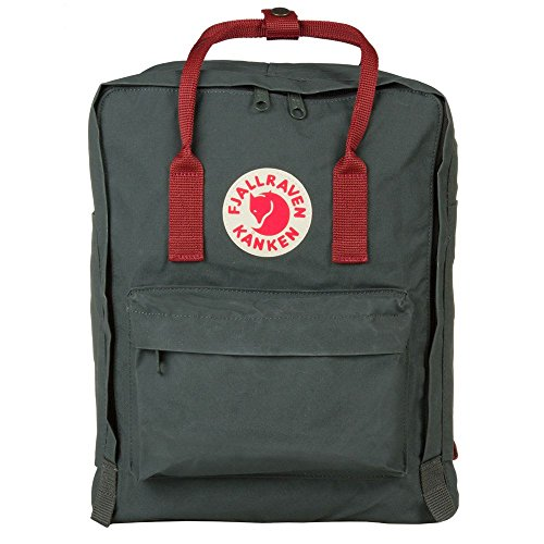 Fjallraven, Kanken Classic Backpack for Everyday, Forest Green/Ox Red