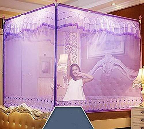Moustiquaire De Lit De Lit Moustiquaire Universelle Pour Lit À Installation Facile Simple Style Doors Bed Sit Yurt Home Double Mosquito Curtain Purple Twin2 (color: Color Size: Size) -to You_colour