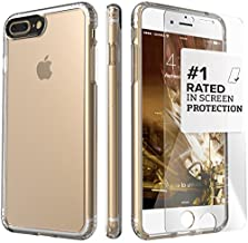 iPhone 8 Plus & 7 Plus Case, SaharaCase Clear Protective Kit Bundled with [ZeroDamage Tempered Glass Screen Protector] Rugged Slim Fit Shockproof Bumper [Hard PC Back] Protection - Clear