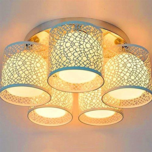 Luckyfree Hanglamp Kamer Bar Cafe Restaurant Keuken Hal Lampen Plafondlamp Kroonluchter Eenvoudige Crystal Rond, 5 beugels 7 Watt Lamp LED