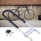 Candado de Bicicleta U,Candado en U Antirobo Acero Cerradura de Bicicleta U Lock Bloqueo de Bicicleta de Alta Seguridad con 3 teclas