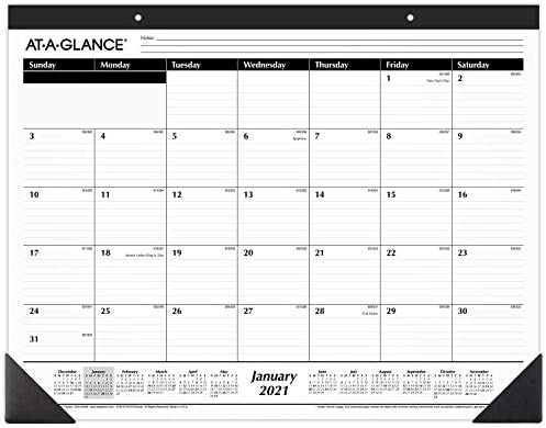 2021 Desk Calendar by AT A GLANCE Monthly Desk Pad 21 3 4 x 17 Standard Ruled Blocks SK240021 product image