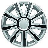 Albrecht Automotive 49516 Radzierblende Mirage 4 Silver/Black Plus 16' (1 Satz), Set of 4