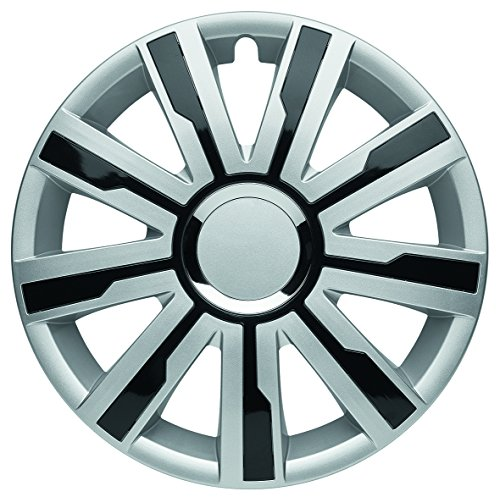 "Albrecht Automotive 49516 Radzierblende Mirage 4 Silver/Black Plus 16"" (1 Satz), Set of 4"
