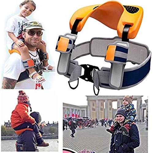 JayQm Shoulder Carrier Seat Saddle Children Kids Child Ankle Straps Hands Free Travel Backpack