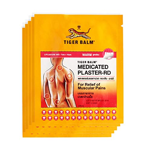 HELLOYOUNG 2 Pflaster Tigerbalsam Kräuterpflaster medizinische Pflaster Muskel-Rücken-Gelenkpflaster Gesundheitssalben (Warm)