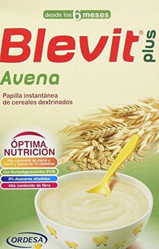 Blevit Plus Avena Cereales, 1 unidad 300 gr. A partir de los 6 meses.