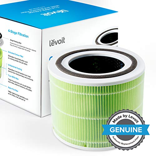 Levoit Core 300 Air Purifier Replacement Filter, 3-in-1 Pre-Filter, True HEPA Filter, High-Efficiency Activated Carbon Filter, Core 300-RF (Mold Bacteria)