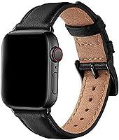 SUNFWR Bracelet Compatible pour Apple Watch 44mm 40mm 42mm 38mm, Véritable Cuir de Remplacement Bracelet Compatible...