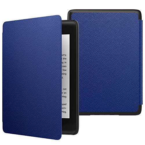 MoKo Hülle für Kindle Paperwhite E-Reader, Die dünnste und leichteste Schutzhülle Smart Cover mit Auto Sleep/Wake für Amazon Kindle Paperwhite (10. Generation – 2018) - Marineblau