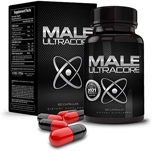 Male UltraCore High Potency Testosterone Booster for Men New Improved Formula with 2800mgs of product image