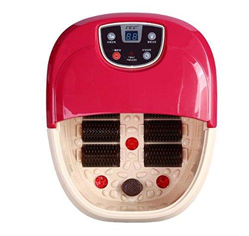 Jia He Fußwanne Massage-Fußbad mit sechs Rädern, elektrisch beheizte Fußbad-Vibrationsmassage und Brauseblasen