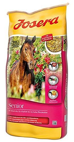 JOSERA Senior, Premium Pferdefutter mit Anti-Aging-Komplex, haferfrei, Müsli für ältere Pferde, 1er Pack (1 x 20 kg)