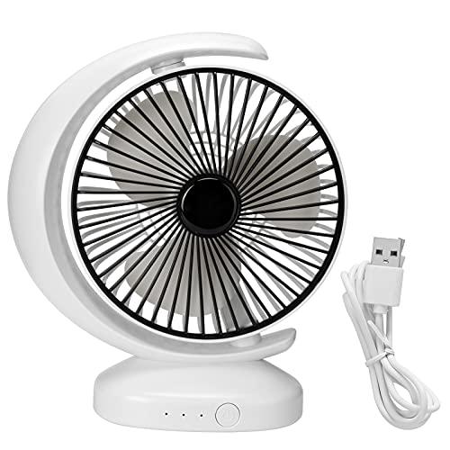 HEEPDD Ventilador de Escritorio USB, Ventilador eléctrico de Carga USB con 3 velocidades para el hogar de la Oficina