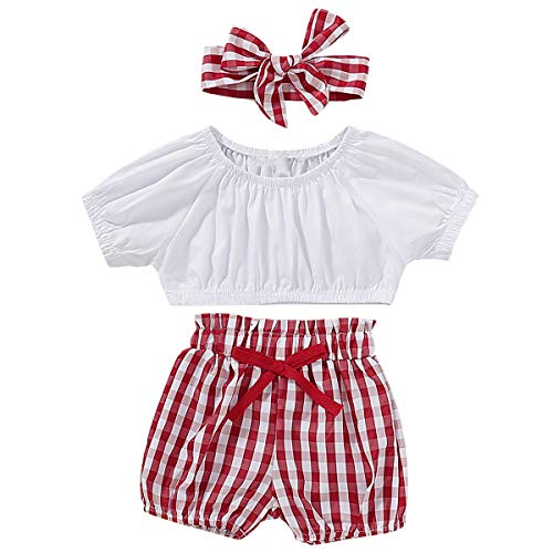 Gyratedream Girls Summer Clothes Pink Chiffon Vest Top Hat 3Pcs Clothes Set for 1-6 Years Kids White Shorts