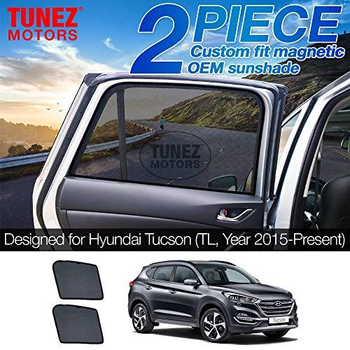 TUNEZ® Sonnenschirme - Benutzerdefinierte Seitenfenster Sonnenschirme Magnetische Sonnenschutz Heckklappe Seitenwagen (Kompatibel mit Hyundai Tucson, TL Jahr 2015-2020)