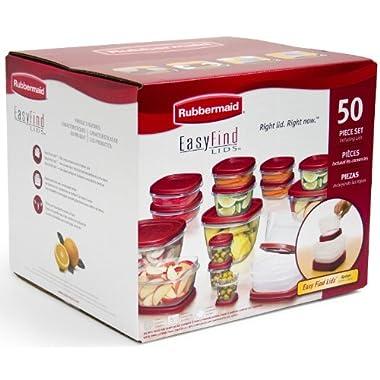 Rubbermaid 50-Piece Easy Find Lids Food Storage Set, Garden, Lawn, Maintenance