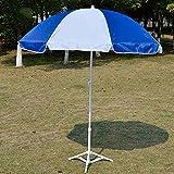 Paraguas al aire libre | Paraguas de pesca | Paraguas | Paraguas plegable de mesa | Paraguas al aire libre | Sombrillas | Sombrilla | Paraguas | Paraguas Publicitario 2 Metros ( Color : Azul+blanco )