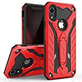 ZIZO Static Series for iPhone XR Case Military Grade Drop Tested with Built in Kickstand (Red/Black)