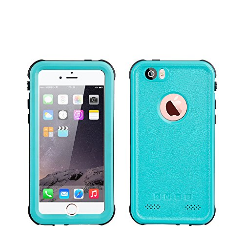 iPhone 5 5S SE Waterproof Case, IP68 Certified Waterproof Shockproof Dirtproof Snowproof Heavy Duty Protective Cover, Full Sealed Case with Built-in Screen Protector for iPhone 5 9S SE (Blue)