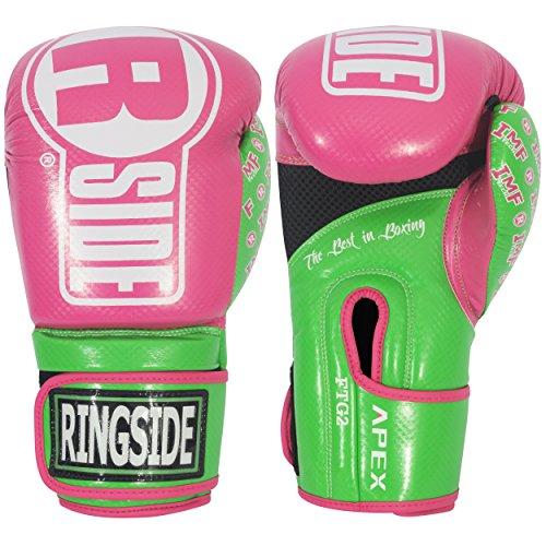 Ringside Apex Flash Sparring Gloves, Black/Gold, 16-Ounce