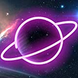 XIYUNTE Planet luz de neón Señales luminosas LED Planeta señales de neón ambiente rosado Planeta...